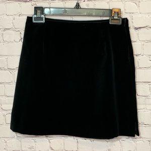 Limited Black Velvet Mini Skirt Size 2